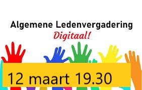 Algemene Ledenvergadering 12 maart 2021 19.30 uur via Zoom
